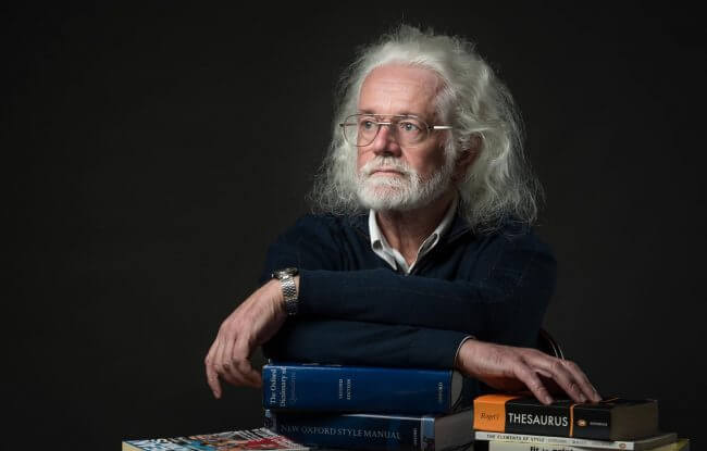 James Cowan is passionate about words and works as a proof reader | Iris Awards 2016 | Portrait Classic Category | Bronze